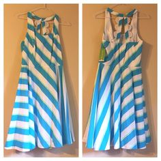 """Zo Dress, """"Roper Stripe"""", Turquoise Bundles available! (Box) Lilly Pulitzer Dresses"""
