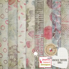 Vintage Paperie {one} :: Papers :: Memory Scraps $1.79*