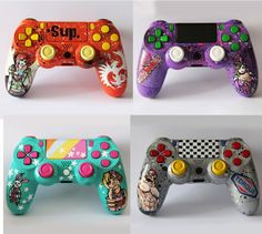 Custom Borderlands Playstation 4 controller or by DevidedPursuits
