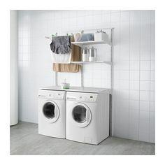 IKEA - ALGOT, Wandrail/planken/droogrek, De onderdelen van de ALGOT serie kunnen op diverse manieren worden gecombineerd en zijn daardoor eenvoudig aan te passen aan de behoefte en de ruimte.De consoles, planken en acccessoires hoef je alleen maar op hun plaats te klikken. Daardoor is het heel eenvoudig om je opbergoplossing te monteren, aan te passen en te veranderen.Geschikt voor gebruik in het hele huis, zelfs in vochtige ruimtes zoals de badkamer of op overdekte balkons.Ook te ...