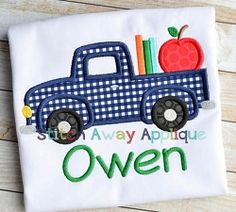 School Truck Applique - 5 Sizes! | What's New | Machine Embroidery Designs | SWAKembroidery.com Stitch Away Applique