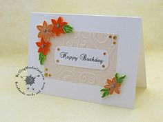 Handmade Birthday card quilled card floral by QuillingWonderland