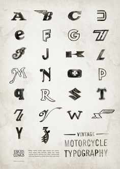 Vintage Motorcycle Typography Art Print by Iron Lungs | Society6