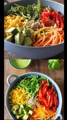 Best Salad Recipes, Whole Food Recipes, Diet Recipes, Vegetarian Recipes, Cooking Recipes, Lunch Salad Recipes, Delicious Salad Recipes, Best Healthy Recipes, Vegetarian Salad