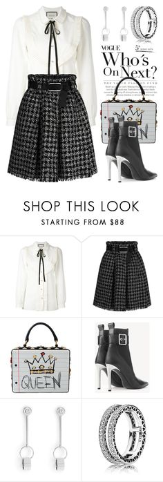 """""""Pick One For The Girls 4408"""" by boxthoughts ❤ liked on Polyvore featuring Gucci, Dolce&Gabbana, rag & bone, Henri Bendel and Pandora"""