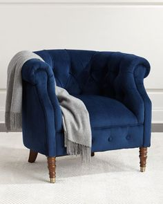 Navy+Tub+Chair+at+Neiman+Marcus.
