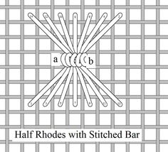 I ❤ embroidery . . . Half Rhodes with Stitched Bar, Stitch of the Month March 2010 ~By Needlelace