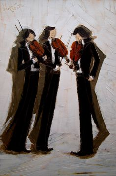 "Justyna Kopania; Mixed Media, 2013, Painting ""Variations on a Theme of Paganini"""