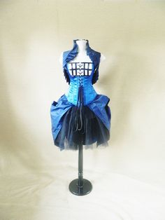 ummmm TARDIS DRESS!!!!..... thats all im saying  Tardis over bust corsetto fit 3538 natural waist by AliceAndWillow