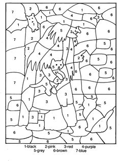 Halloween, the festival of candies is one of the best time of the year for kids of all ages. Here are 25 amazing free printable Halloween coloring pages here Halloween Color By Number, Theme Halloween, Halloween Crafts, Printable Coloring Pages, Coloring For Kids, Coloring Pages For Kids, Coloring Books, Halloween Worksheets, Halloween Activities