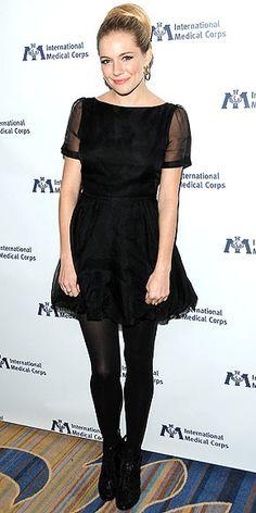 Sienna Miller wearing her own brand, Twenty8Twelve.