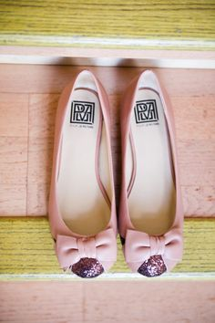 Pink + Sparkle = Awesome. Photography by coryryan.com, Flats by pourlavictoire.com
