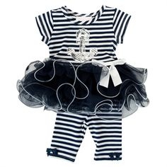 b43005344c81c Bonnie Baby Infant Girl Anchors Aweigh Dress Set  VonMaur  BonnieBaby  TuTu   NavyandWhite