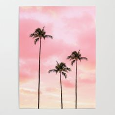 Buy Palm Trees Photography Hot Pink Sunset Art Print by wildhood Worldwide shipping available at Just one of millions of high quality products available Sunset Canvas, Sunset Art, Pink Sunset, Watercolor Sunset, Watercolor Art, Sunset Painting Easy, Drawing Sunset, Watercolor Landscape Paintings, Watercolor Flowers