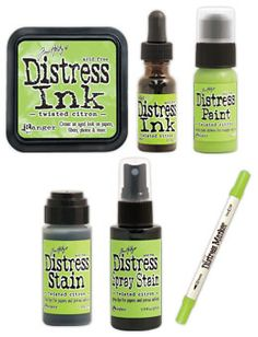 RESERVE Tim Holtz Distress TWISTED CITRON Color Of The Month Set Ranger 2015MAY at Simon Says STAMP!
