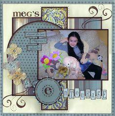 Meg's Entourage - Scrapbook.com Blues, browns and beige...1–2 photos