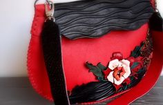 Unique of a kind, genuine leather, handmade designer purse. by - Sofisty Concept