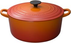 Le Creuset Signature Flame Enameled Cast Iron Round French Oven, 7.25 Quart -- You can find out more details at the link of the image.