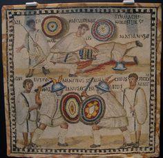 Mosaico de gladiadores | Museo arqueológico de Madrid