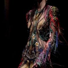 "27.6k Likes, 474 Comments - Alexander McQueen (@alexandermcqueen) on Instagram: ""A dress embroidered with medieval inspired flora and fauna. #McQueenAW17 #AlexanderMcQueen #PFW"""