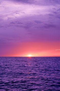 Purple Photography Ideas (20 pics) - sunset; beach; relaxing; calm Like & Repin. Noelito Flow. Noel http://www.instagram.com/noelitoflow
