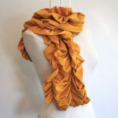 Just ordered this ruffled mustard scarf for our fam pics!