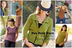 There's a new cotton in town: Knit One Crochet Too Pea Pods Yarn! Great project ideas, too!