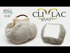 Borsa all'uncinetto - CLIC CLAC MAXY - Crochet bag - YouTube Crochet Doll Tutorial, Crochet Bag Tutorials, Crochet Basics, Crochet Projects, Crochet Pencil Case, Crochet Christmas Gifts, Macrame Bag, Patchwork Bags, Crochet Handbags