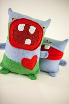 Etsy- Buy one and one goes to a needy child. Tony the Sweet Plush Monster by amonstertolove Colorado handmade