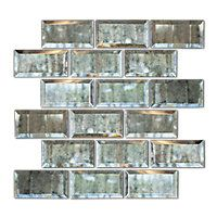 Antique Mirror Bevel Amalfi Glass Wall Tile $39.99 Sq Ft      Coverage 9.8 Sq Ft per  Box