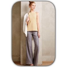 Pilcro wide leg linen trouser Pilcro for Anthropologie. Lightweight and very comfy. Actual pics coming soon. Pic courtesy of Anthropologie.  ❌no trades❌no paypal❌ Anthropologie Pants Trousers