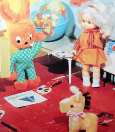 Toys and Dollies' Art Class  Kitsch 1960s by kitschandcurious, £2.00