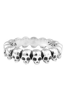 Handcrafted Sterling Silver Sinfinity Skull Ring For Men