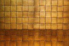 真鍮版の網代編み
