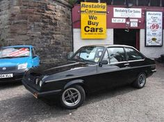 1977(R) Ford Escort MK2 RS2000 In Gloss Black With Betacloth Fishnet Recaro Trim - http://www.fordrscarsforsale.com/425