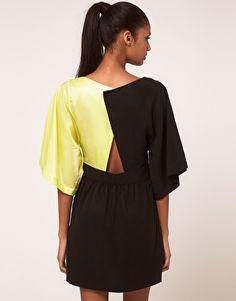 Enlarge Vero Moda Very Color Block Open Back Dress