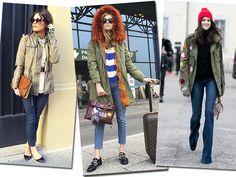 A combinação da parka com jeans é perfeita para um look casual (Foto: Reprodução Jessiekass, Chiara Ferragni e Imaxtree)
