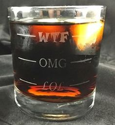 Amazon.com: LOL-OMG-WTF Funny Rocks Glass - Finally a Rocks Glass for Every Mood.  LOL-OMG-WTF - It's Not Just for Wine Drinkers Anymore :) !  11 oz Libbey Highball Glass