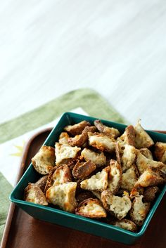 Crunchy parmesan croutons to be enjoyed as a snack. Also great with a delicious soup or your favorite salad. Can you believe that they are super low carb?