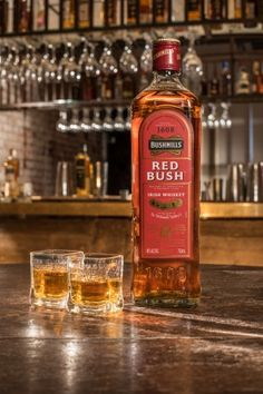 An Irish Whiskey for the American Bourbon Drinker. Bushmills® Irish Whiskey announces the launch of Bushmills® Red Bush™, the newest addition. Bourbon Whiskey, Scotch Whisky, Gin, Whiskey Recipes, Alcoholic Drinks, Cocktails, Drink Bottles, Whiskey Bottle, Friends