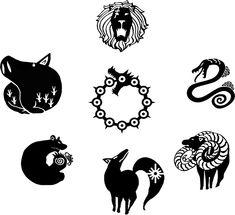 Image result for seven deadly sins symbols