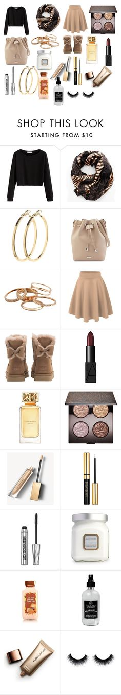 """Noodle😂😂"" by fashionisminej ❤ liked on Polyvore featuring Sophie Darling, Pieces, Kendra Scott, UGG, NARS Cosmetics, Tory Burch, Laura Mercier, Burberry, Bare Escentuals and Little Barn Apothecary"