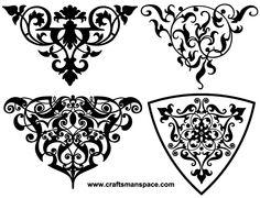 Vector Decorative Ornamental vignettes Free