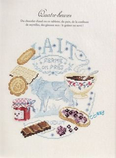 tea cross stitch cart