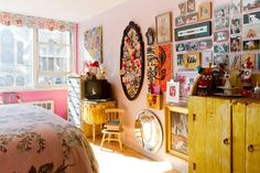 Jeanie Engelbach eclectic bedroom Pink and Quirky Decor