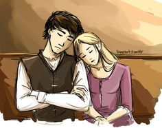 Throne of Glass: chaol and celeana: a peaceful sleep by ~compoundbreadd on deviantART