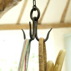 Our larder #hook is a great addition to any country kitchen. Hand crafted in forged iron it is supplied in either a plain Matt Black finish or hand dipped in black Beeswax for a softer effect.