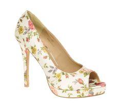 ASOS PASSION Platform Peep Toe Court Shoes