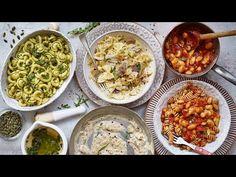 5 MINUTE VEGAN PASTA SAUCE RECIPES - YouTube 21 Day Fix Vegetarian, Vegan Vegetarian, Vegetarian Recipes, Vegan Pasta Sauce, Pasta Sauce Recipes, Pasta Sauces, Vegan Pesto, Sauce For Chicken, Pasta Noodles