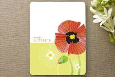 chic poppies Personalized Stationery by Gakemi Art+Design at minted.com